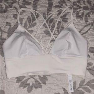 Lululemon white sports bra!